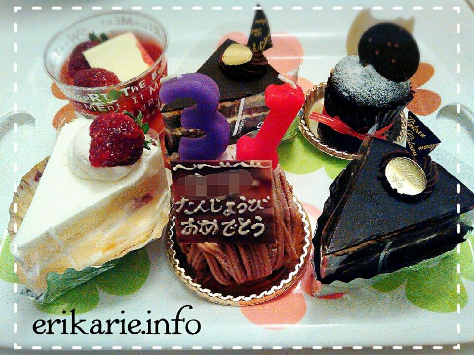 クリスマス後の誕生日ケーキ
