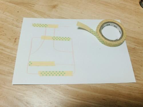 マスキングテープで手作り年賀状2017