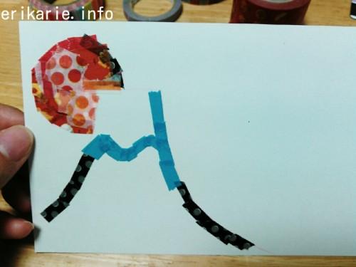 マスキングテープで手作りする富士山の年賀状