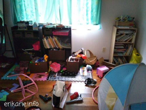 子ども部屋の片付けビフォーアフター