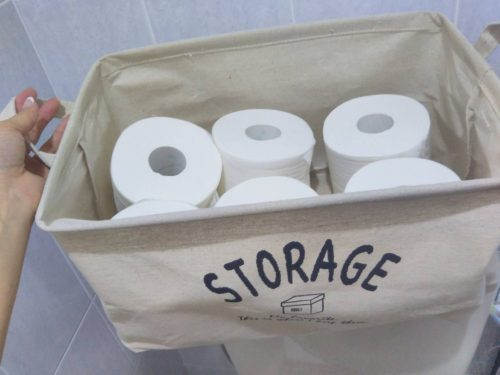 夫が片付けられるようになるトイレ収納