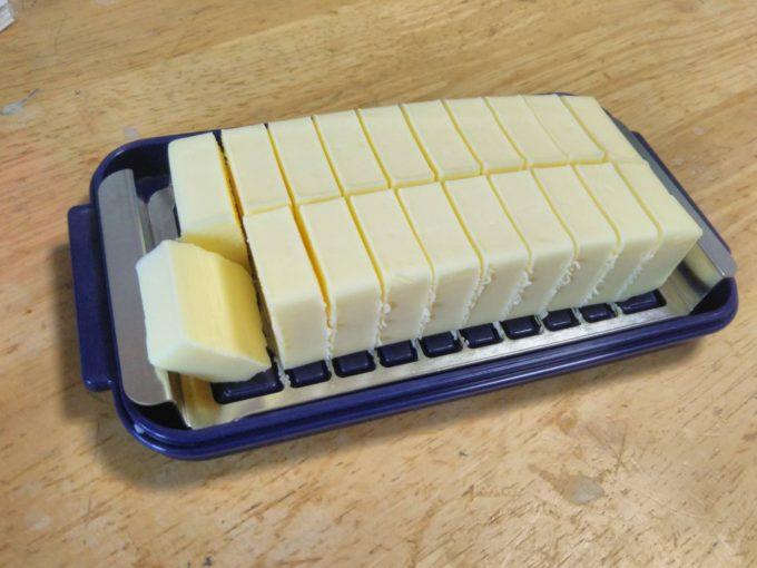 バターカッター付き保存容器