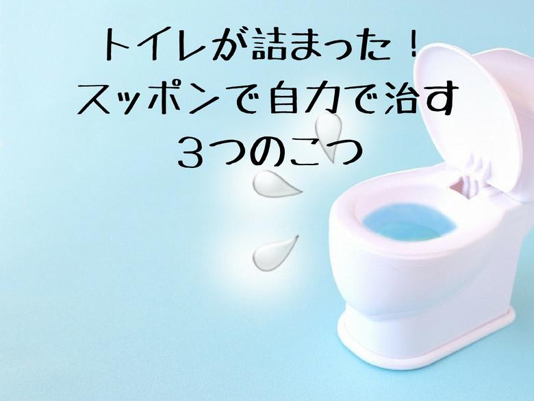 トイレが詰まった!スッポンで自力で治す3つのこつ