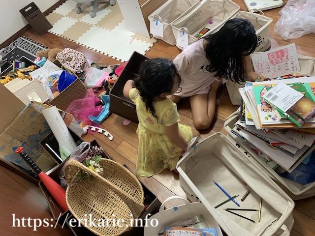 子ども部屋のおもちゃの片付け手順
