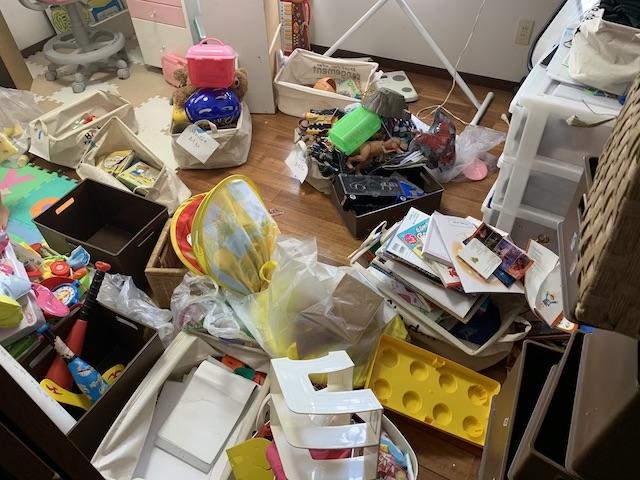 子ども部屋のおもちゃの片付け