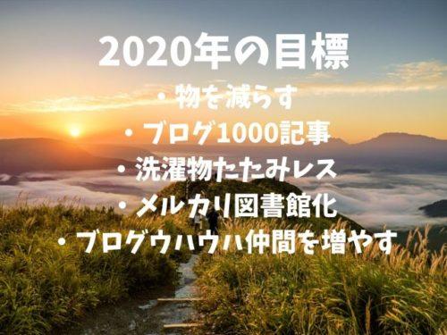 2020年の目標・豊富