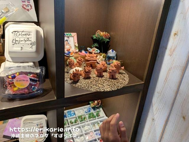 沖縄北谷のシーサー色付け体験『アンドシェル』へ家族と言ってきた体験ブログ